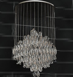 Crystal clear sequins pendant lamp