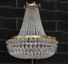 European gorgeous clear crystal pendant lamp