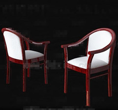 White red wooden chair