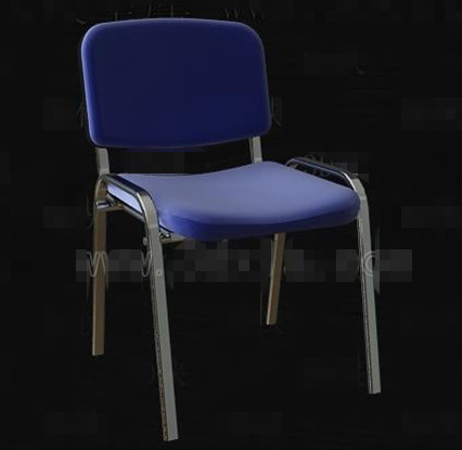 Blue Metal frame simple chair