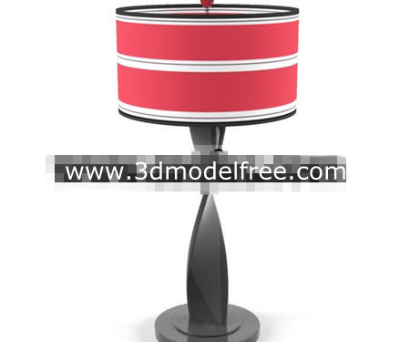 Link toRed abstract distorted shape holder lamp
