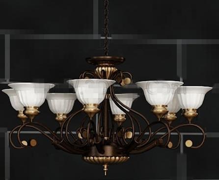 White receptacles metal pendant lamp