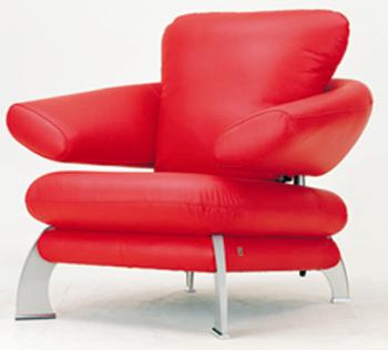 European-style modern red single sofa