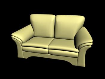 European-style modern red double seats sofa