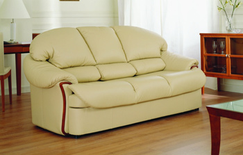 Modern light color three seats sofa