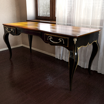Link toOld-style classic table 3d model