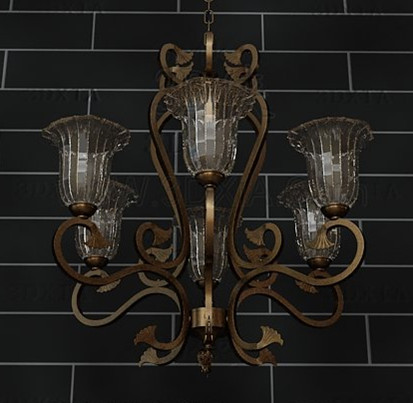 European style retro metal frame Chandelier