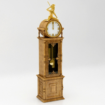 European classical clock 3D Model