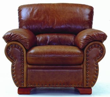 Modern brown single leather sofa