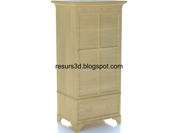European wooden cabinet 3D model