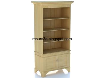 Modern wooden cabinet 3D model