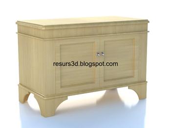 Link toEuropean-style wood cabinet 3d model