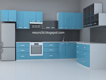 Link toModern blue household cabinets