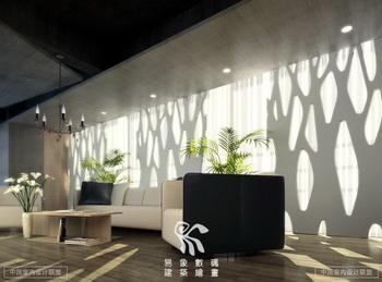 Modern spacious living room 3D model