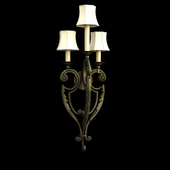 European style metal frame wall lamp