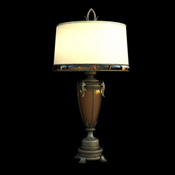 European retro desk lamp 3d model