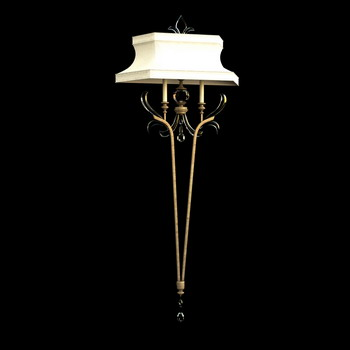 European classical wall lamp 3D model