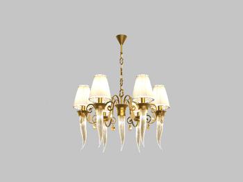European-style golden yellow chandelier
