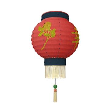Red garden lantern 3D Model
