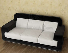Modern black and white three seats sofa
