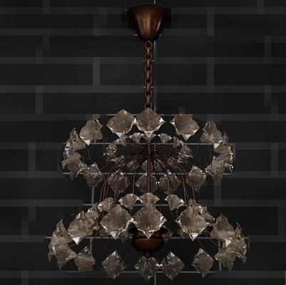Brown double layers crystal chandeliers