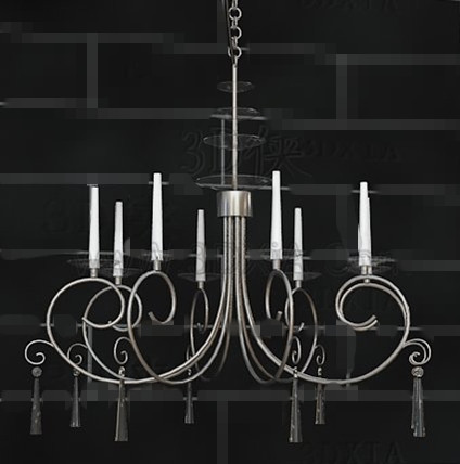 Link toSilver frame white candles chandelier