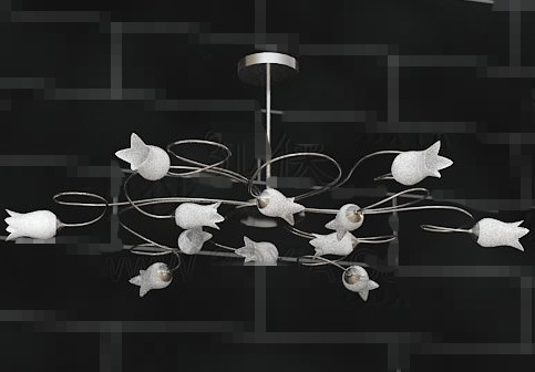 White lily crystal chandelier