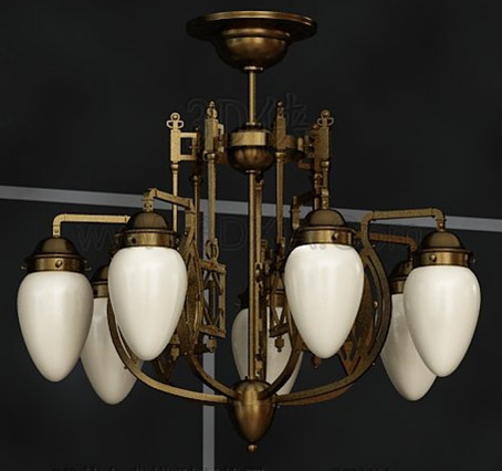 European style white fashion Chandelier