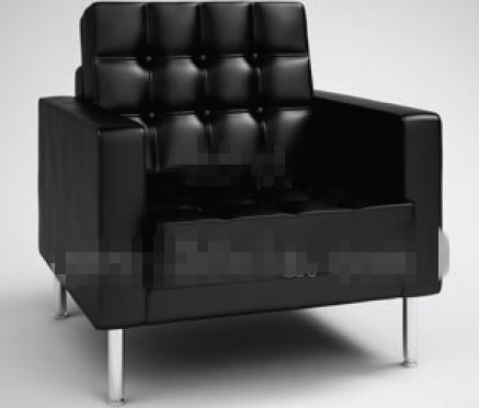 Link toModern style pure black sofa