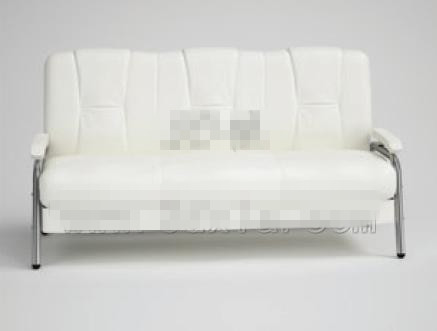 Modern simple pure white three seats sofa