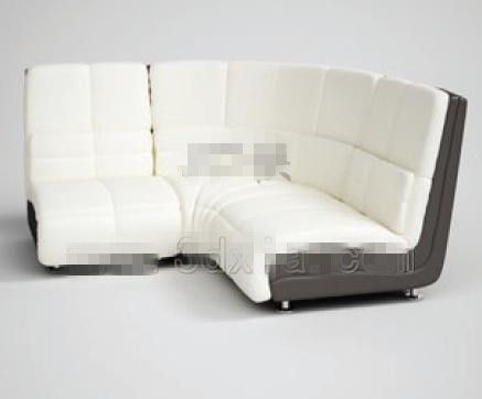 Fashion white angular fabric sofa