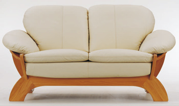 Link toEuropean light-colored leather sofa -2