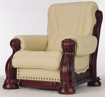 European-style leather armchair