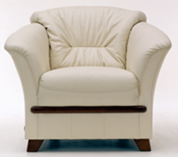 Ivory single sofa 3D Model