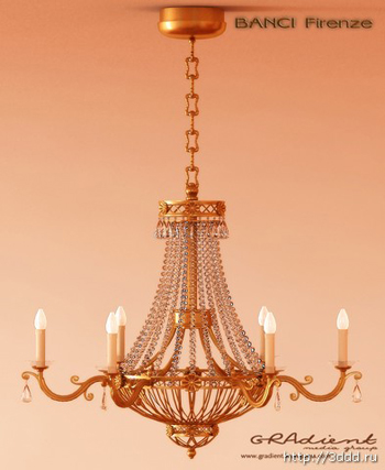 Gorgeous European-style chandeliers 3D model