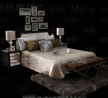 Link toSilver yellow theme double bed
