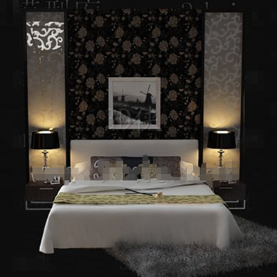 White warm and beautiful Double bed