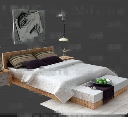 Link toWhite wooden double bed