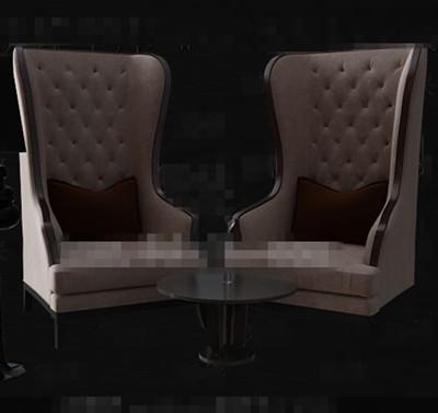 Light brown European single sofa chairs