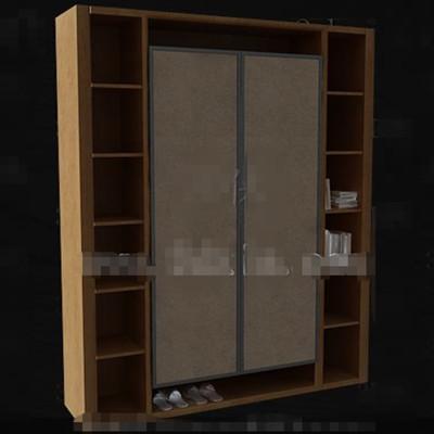 Bookcase-style wooden wardrobe