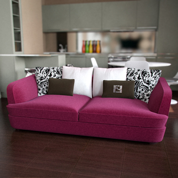 Link toRed rose over the sofa 3d model