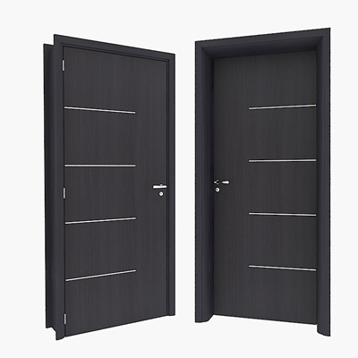 Modern dark solid wood door