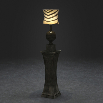 Link to3d model of classic floor lamp