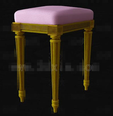 Purple cushion wooden bench chair