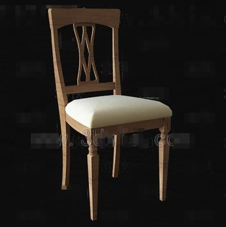 chinese simple wooden chair download free vector 3d model