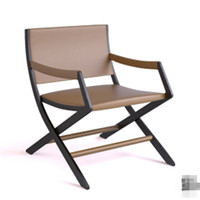 Modern brown wooden lounge chair