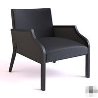 Modern black high back armchair