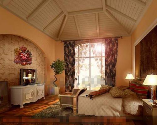 Link toExotic warm yellow bedroom