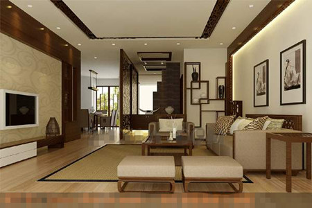 Chinese modern and simple style living room