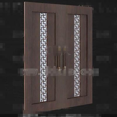European-style wooden door